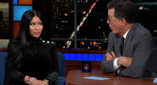 Nicki Minaj Barbie Dream Stephen Colbert
