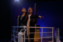 ariana grande james corden titanic movie musical remake video watch