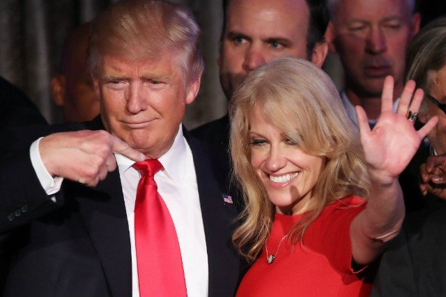 Kellyanne Conway's husband appears to slam Trump