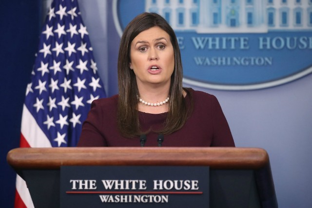 Sarah Huckabee Sanders Can't Guarantee There's No Trump N-Word Tape