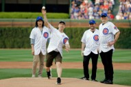 Smashing Pumpkins Threw Out the First Pitch at Wrigley Field
