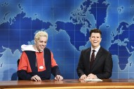Watch Pete Davidson Describe Life with Ariana Grande on <i>SNL</i>'s Weekend Update