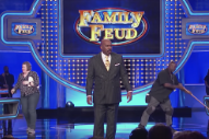 Watch Steve Harvey Respond to Pusha T in a <i>Family Feud</i> Freestyle