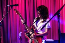 Courtney Barnett performing at The Drop.