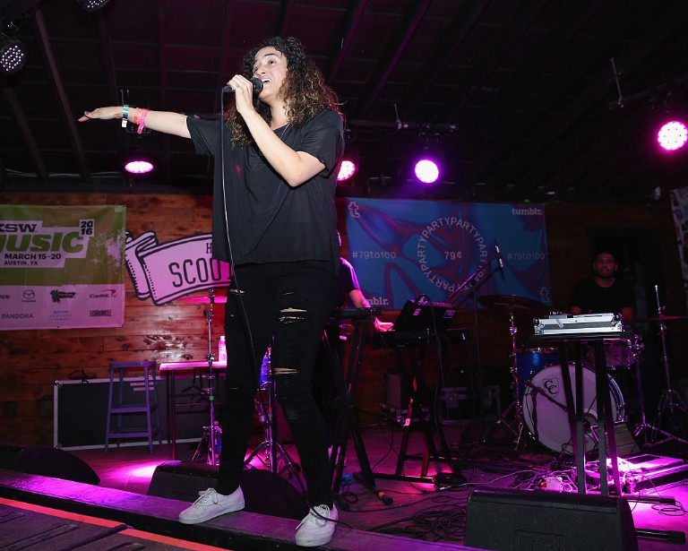 Empress Of's Lorely Rodriguez performs at Tumblr's 79 Cents Party.