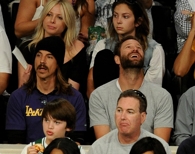 Anthony Kiedis and Aaron Eckhardt at NBA Finals 2010