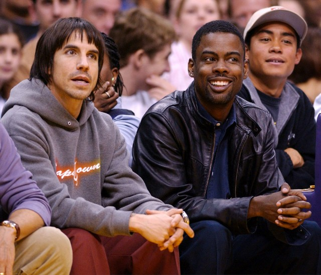 Anthony Kiedis and Chris Rock in 2003