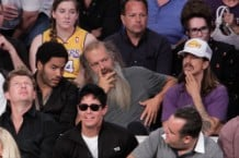 Anthony Kiedis With Celebrity Guests at Lakers Games Over the Years