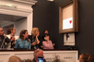 Banksy Painting Self-Destructs Moments After Going for $1.4 Million at Auction