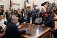 Here's All the Insane Shit From Kanye West's Oval Office Meeting With Trump