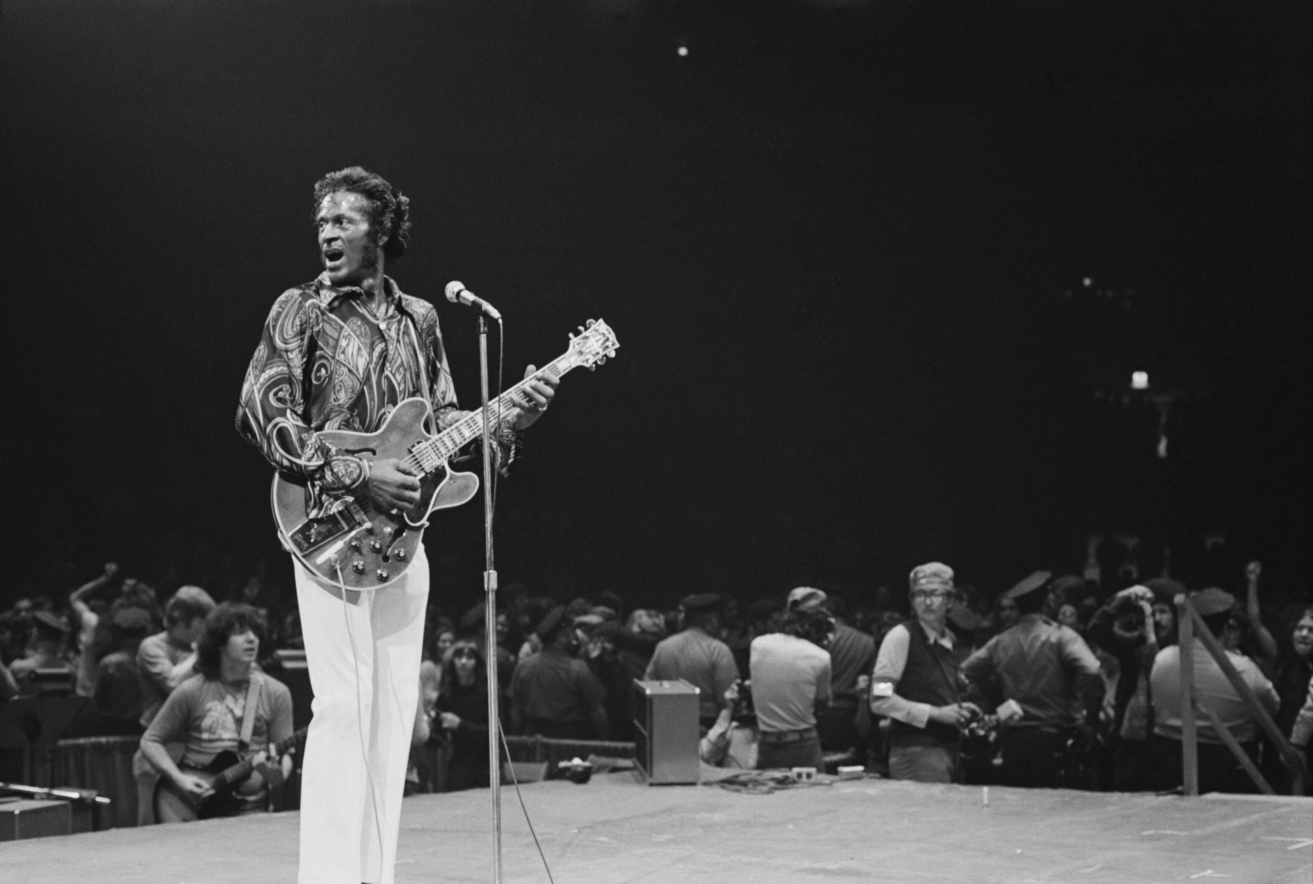 met museum rock and roll exhibit Chuck Berry jimi hendrix the beatles st vincent
