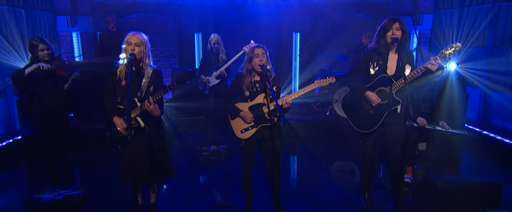"Watch boygenius Perform ""Me and My Dog"" On Late Night With Seth Meyers"