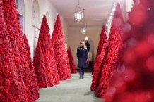 Melania Trump Unveils Creepy 2018 White House Christmas Decorations