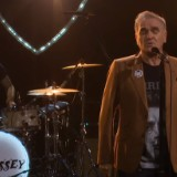 "Morrissey Performs ""back On The Chain Gang"" In A Morrissey Shirt On Corden"