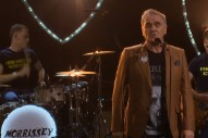 Morrissey Performs &#8220;Back on the Chain Gang&#8221; in a Morrissey Shirt on <i>Corden</i>