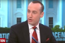 Stephen Miller's Spray On Hair is Wild