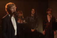 Watch Beck Perform &#8220;Tarantula&#8221; With Feist, Bat For Lashes, and the L.A. Philharmonic on <i>Corden</i>