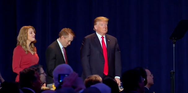 Trump Bored at National Prayer Breakfast
