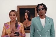 Beyoncé and Jay-Z Accept Brit Award in Front of Meghan Markle Painting