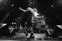 Keith from Prodigy dances on stage, UK 1997.