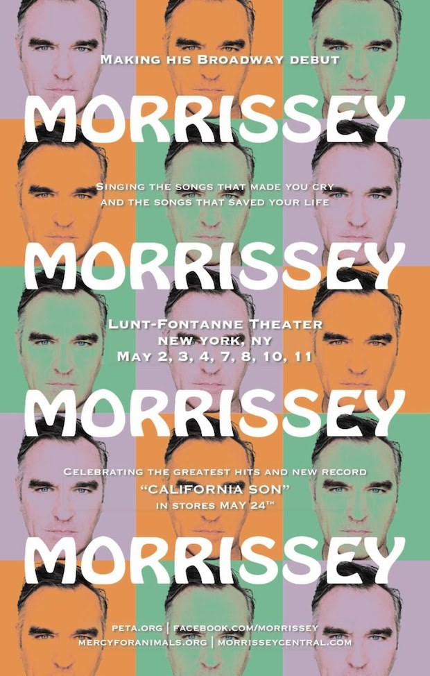 Morrissey Broadway Residency Tickets Dates