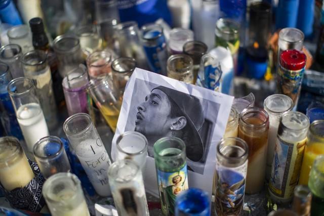 Image result for stampede at Nipsey Hussle vigil in LA
