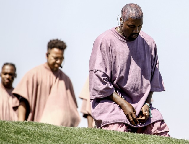 Kanye West debuts new song 'Water' during Sunday Service at Coachella