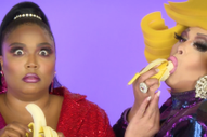 "<i>RuPauls Drag Race</i> Queens Eat a Bunch of Fruit in Lizzo's New ""Juice"" Video"