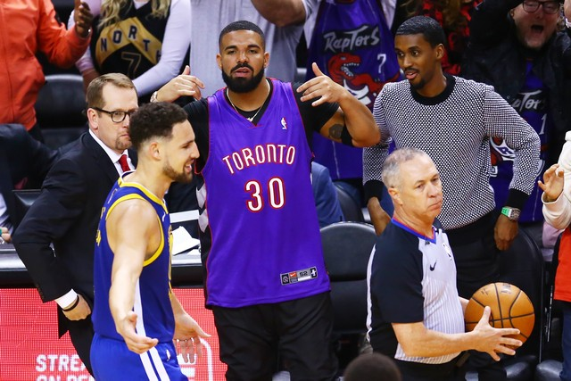 drake finals nba trolling steph curry