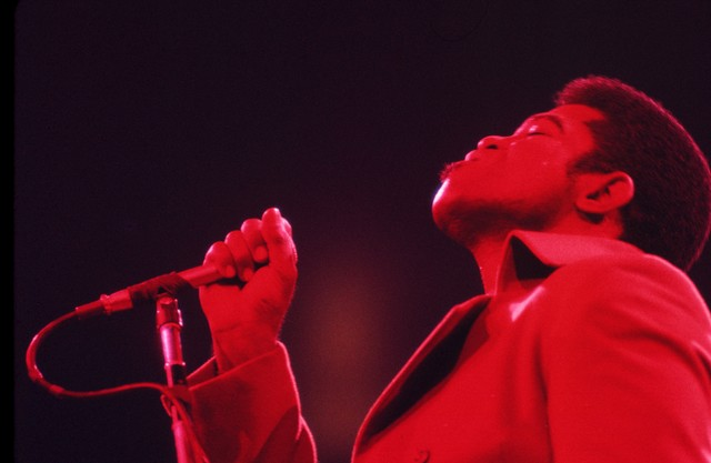 James Brown performs in New York
