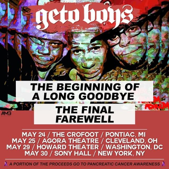 Geto Boys Farewell Tour Dates