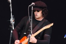 The Raconteurs - Jack White seen performing live on stage