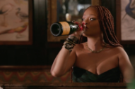 Watch Rihanna Drink Champagne-Twinkie Cocktail, Do Seth Meyers' Makeup on <i>Late Night</i>