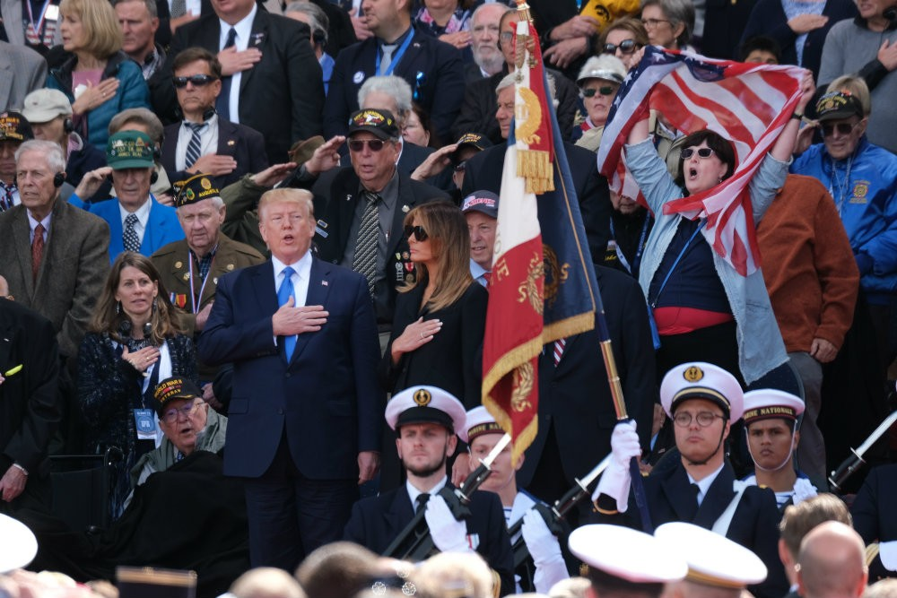 Trump Signs Top of D-Day Letter