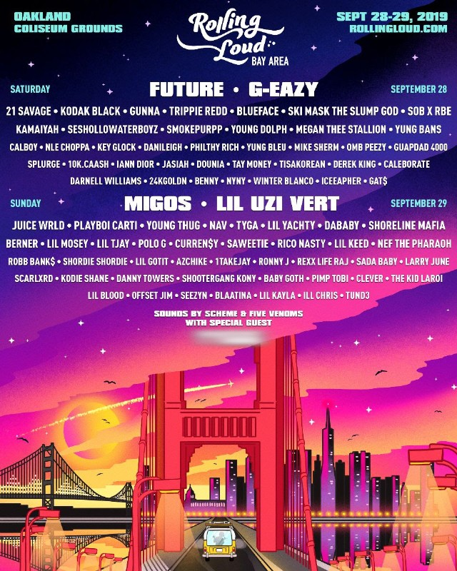 Rolling Loud Bay Area 2019 Lineup: Migos, Future, Lil Uzi