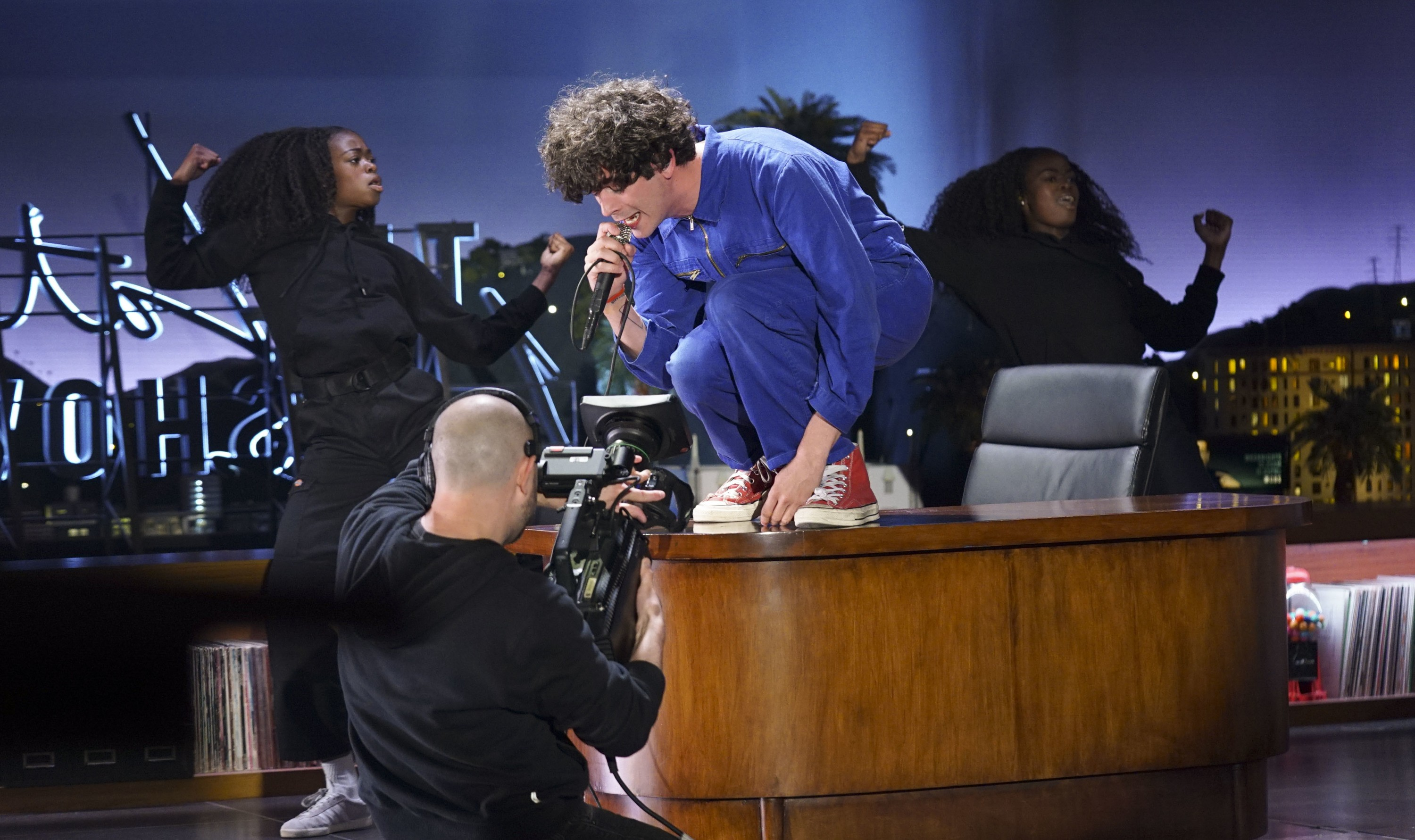 Matty Healy of The 1975 on Late Late Show