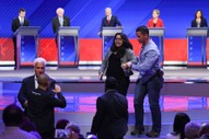Democratic Presidential Debate Interrupted by Protesters