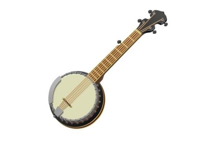 apple emoji banjo