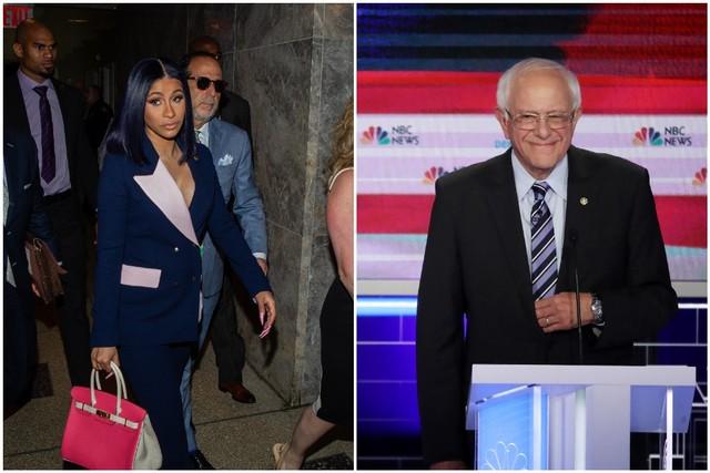 Cardi B Tweets About Bernie Sanders Spin