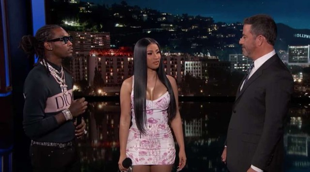 cardi b offset jimmy kimmel clout