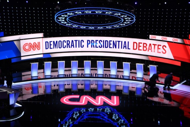 Democratic debate highlights: Biden the favored target