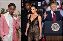 Donald Trump Kim Kardashian Kanye West ASAP Rocky