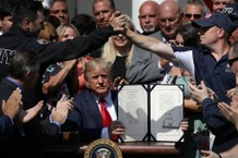 Trump Says He Was at Ground Zero with 9/11 First Responders
