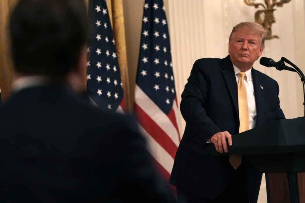 Donald Trump at the White House social media summit