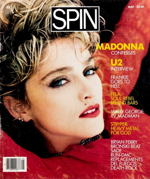 Madonna's May 1985 SPIN cover