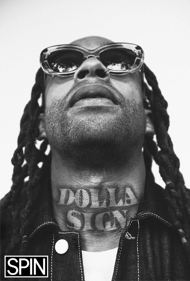 Ty Dolla $ign's neck tattoo