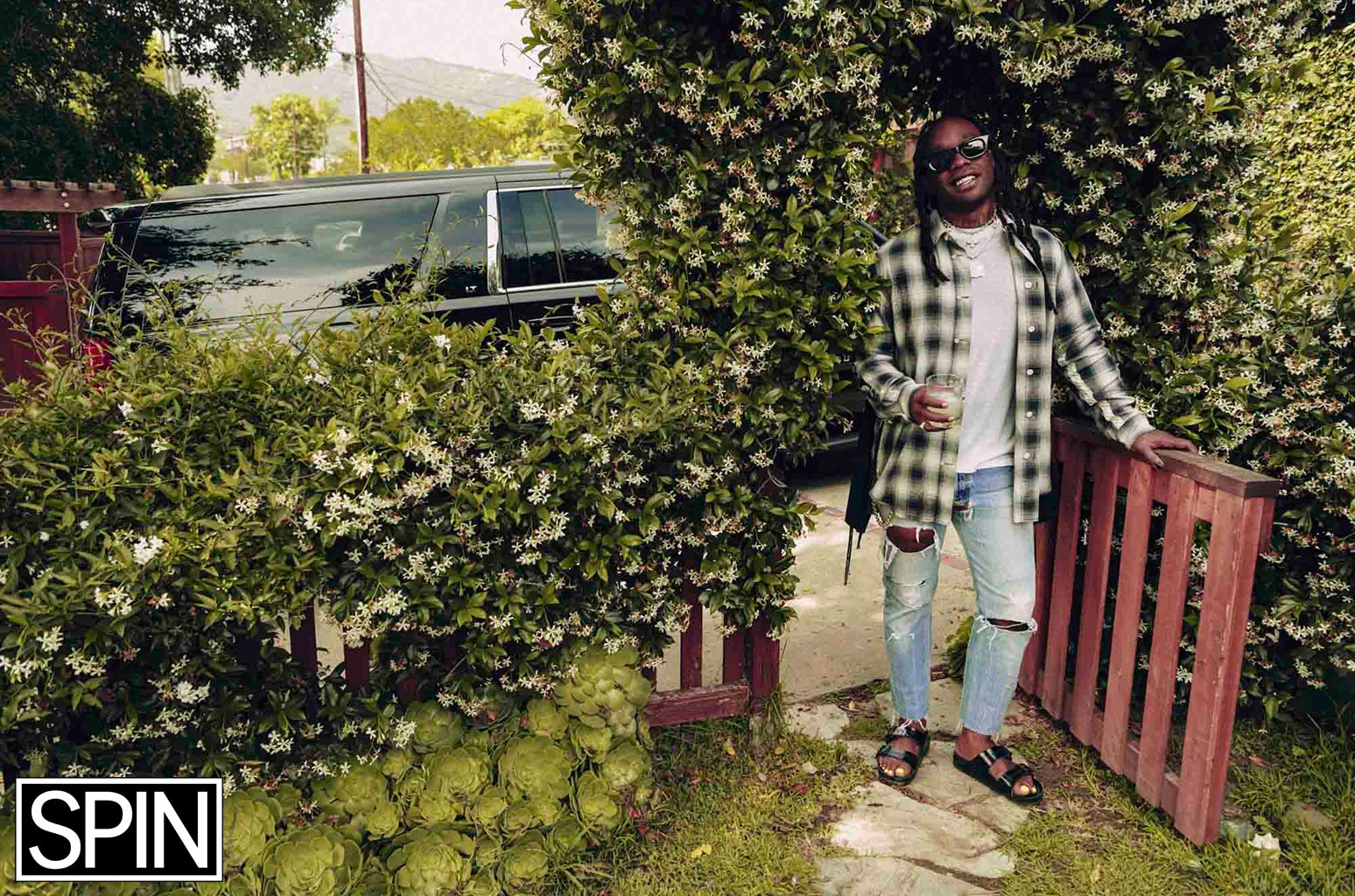 Ty Dolla $ign in the garden