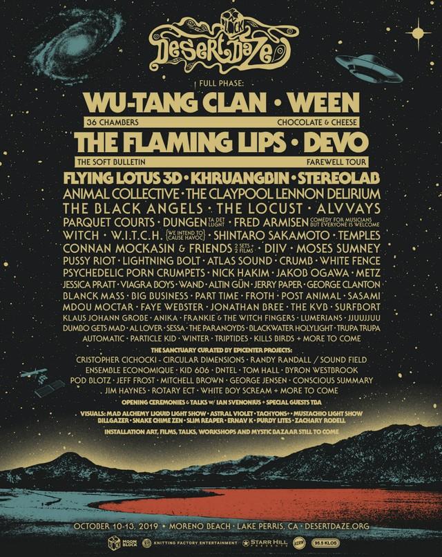 Desert Daze 2019 Final Lineup Poster
