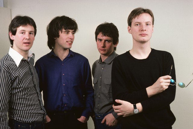 Photo of XTC and Colin MOULDING and Dave GREGORY and Andy PARTRIDGE and Terry CHAMBERS