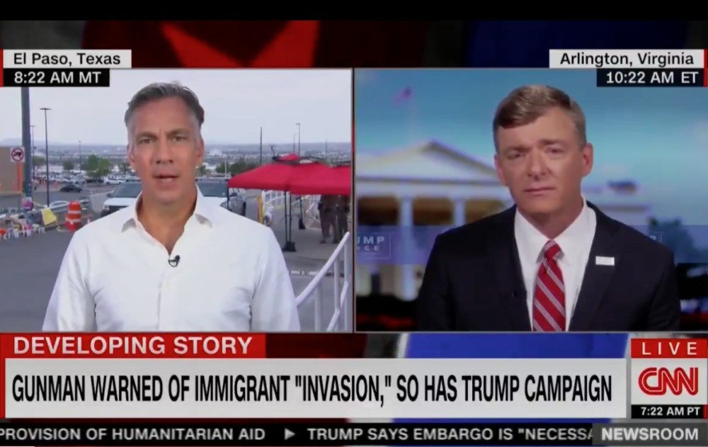 Trump Campaign Spox Refuses to Admit Trump Laughed at Suggestion of Shooting Migrants at the Border